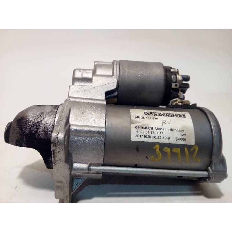 Recambio de motor arranque para opel mokka x selective start/stop referencia OEM IAM 25194650  0001170611