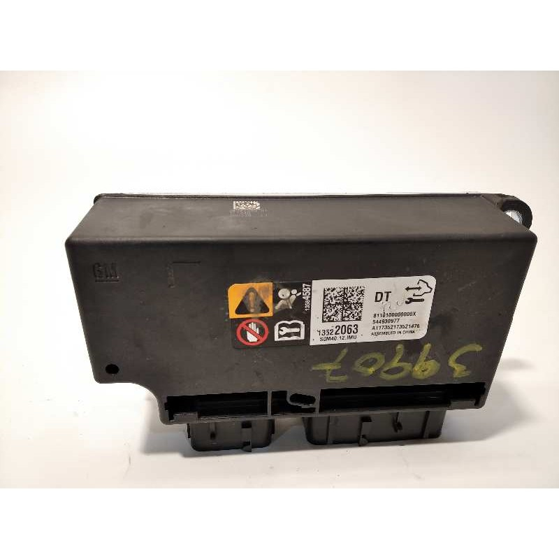 Recambio de centralita airbag para opel mokka x 1.4 16v turbo referencia OEM IAM 13522063